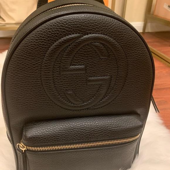 Gucci Handbags - Gucci black soho backpack